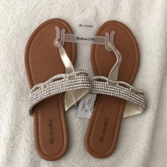1c5157f1837a David s Bridal Thong Sandals